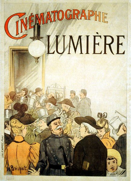 Poster for the Lumière brothers' cinematograph, the ancestor of the current cinema