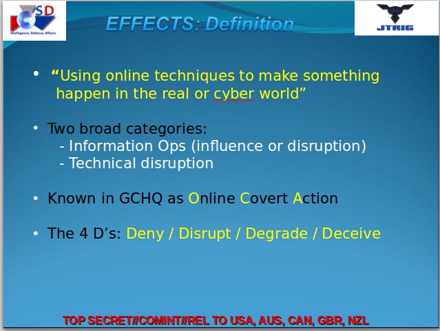 'JTRIG' GCHQ presentation